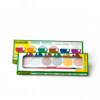 Wasserfarbkasten mit 6 Naturfarben
