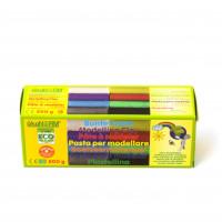 Bunte Knete 8 Farben, 500 g