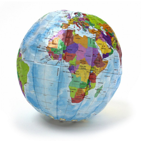 Papierball Globus