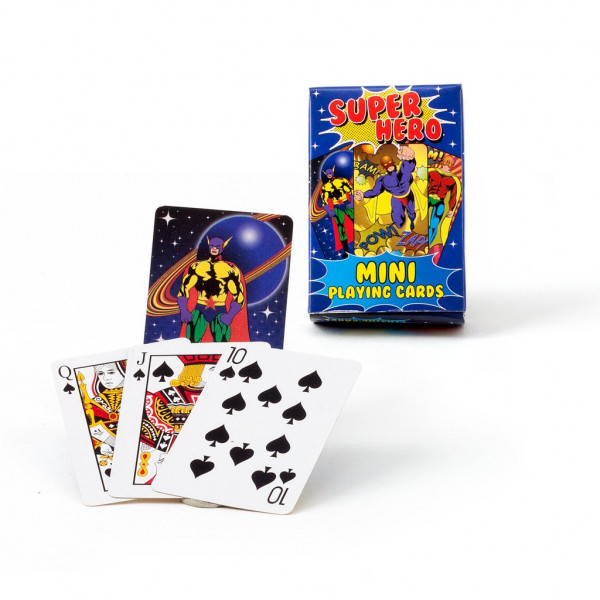 Mini Kartenspiel Superhelden
