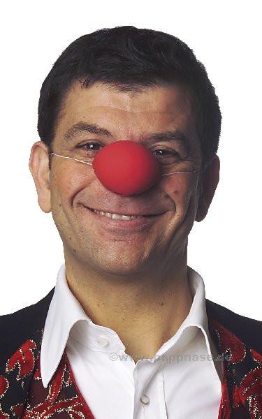 Clown-Nase - kugelrund Pappnase
