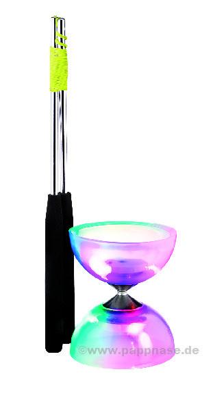LED-Diabolo-Set mit Aluhandstäben Acrobat