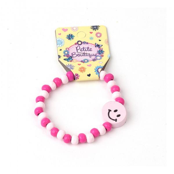 Holzarmband pink