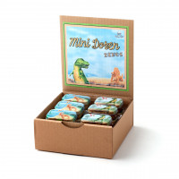 Display Mini-Dosen-Dinosaurier